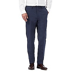 Hammond & Co. by Patrick Grant - Navy pin dot trousers