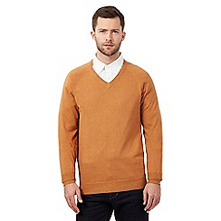 Hammond & Co. by Patrick Grant - Big and tall orange V neck jumper