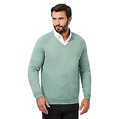 Hammond & Co. by Patrick Grant - Light green V neck jumper