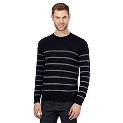 Hammond & Co. by Patrick Grant - Big and tall navy striped crew jumper