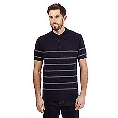 Hammond & Co. by Patrick Grant - Navy breton striped polo shirt
