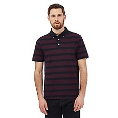 Hammond & Co. by Patrick Grant - Big and tall red striped print polo shirt