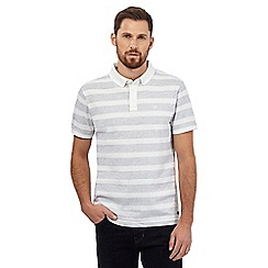 Hammond & Co. by Patrick Grant - White striped print polo shirt