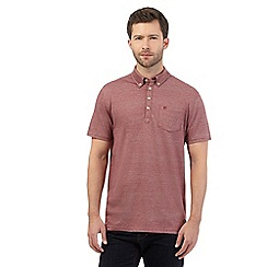 Hammond & Co. by Patrick Grant - Big and tall red herringbone polo shirt