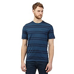 Hammond & Co. by Patrick Grant - Big and tall dark turquoise striped t-shirt
