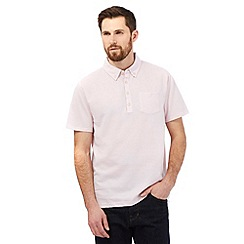 Hammond & Co. by Patrick Grant - Pink herringbone polo shirt