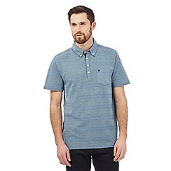 Hammond & Co. by Patrick Grant - Blue herringbone polo shirt