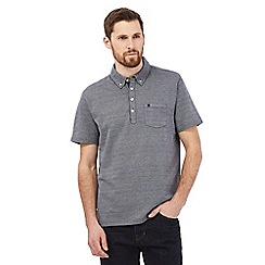 Hammond & Co. by Patrick Grant - Big and tall grey herringbone polo shirt