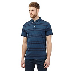 Hammond & Co. by Patrick Grant - Big and tall dark turquoise striped polo t-shirt