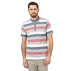 Hammond & Co. by Patrick Grant - Pink block stripe print polo shirt