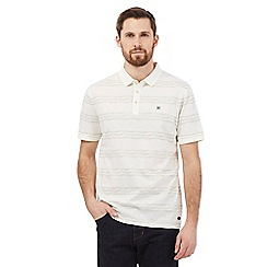 Hammond & Co. by Patrick Grant - Big and tall off white wiggle striped print polo shirt