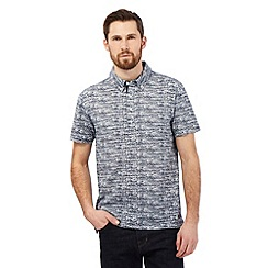 Hammond & Co. by Patrick Grant - Blue etched print polo shirt