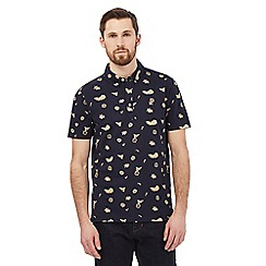 Hammond & Co. by Patrick Grant - Navy floral print polo shirt