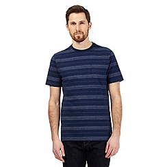 Hammond & Co. by Patrick Grant - Big and tall navy textured dot stripe t-shirt