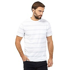 Hammond & Co. by Patrick Grant - Big and tall white jacquard striped t-shirt