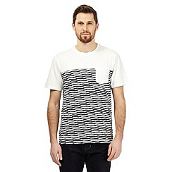 Hammond & Co. by Patrick Grant - Big and tall off white striped print t-shirt