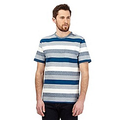 Hammond & Co. by Patrick Grant - Big and tall navy textured block stripe t-shirt