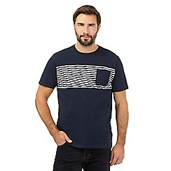 Hammond & Co. by Patrick Grant - Navy wiggle panel t-shirt