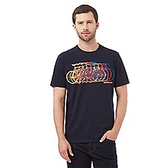 Hammond & Co. by Patrick Grant - Big and tall navy bike print t-shirt