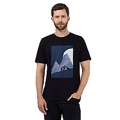 Hammond & Co. by Patrick Grant - Navy mountain circle print t-shirt