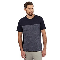 Hammond & Co. by Patrick Grant - Big and tall navy grindle textured t-shirt