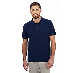 Hammond & Co. by Patrick Grant - Big and tall dark blue textured polo shirt