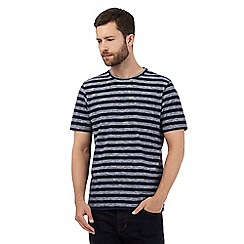 Hammond & Co. by Patrick Grant - Navy striped print t-shirt