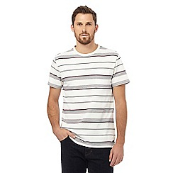 Hammond & Co. by Patrick Grant - Big and tall off white striped texture t-shirt