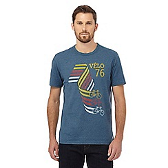 Hammond & Co. by Patrick Grant - Dark turquoise 'Velo' bike print t-shirt