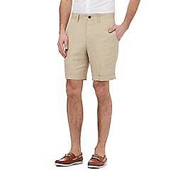 Hammond & Co. by Patrick Grant - Big and tall beige linen blend shorts
