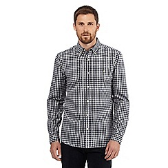 Hammond & Co. by Patrick Grant - Big and tall navy and grey gingham checked print shirt