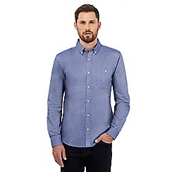 Hammond & Co. by Patrick Grant - Big and tall blue tonic oxford shirt