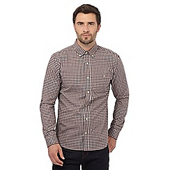 Hammond & Co. by Patrick Grant - Big and tall dark red gingham checked print regular fit shirt