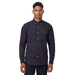 Hammond & Co. by Patrick Grant - Navy jacquard regular fit shirt