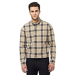Hammond & Co. by Patrick Grant - Big and tall tan checked tailored fit shirt