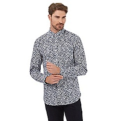 Hammond & Co. by Patrick Grant - White floral print tailored fit shirt