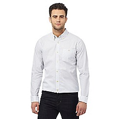 Hammond & Co. by Patrick Grant - Big and tall white dobby striped tailored fit shirt