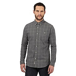 Hammond & Co. by Patrick Grant - Big and tall grey checked tailored fit shirt