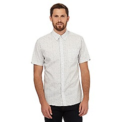 Hammond & Co. by Patrick Grant - Big and tall white print short sleeved shirt