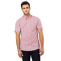 Hammond & Co. by Patrick Grant - Pink textured regular fit shirt