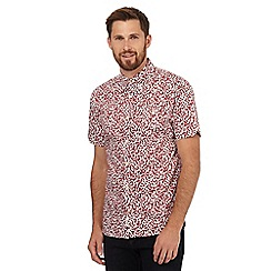 Hammond & Co. by Patrick Grant - Big and tall red floral print short sleeved shirt