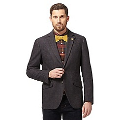 Hammond & Co. by Patrick Grant - Big and tall dark grey wool blend checked jacket