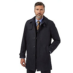 Hammond & Co. by Patrick Grant - Big and tall navy shower resistant tailored mac coat