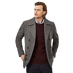 Hammond & Co. by Patrick Grant - Big and tall grey wool blend peacoat