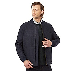 Hammond & Co. by Patrick Grant - Navy checked bomber jacket with wool