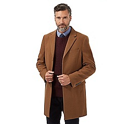 Hammond & Co. by Patrick Grant - Dark tan Epsom coat with wool and cashmere
