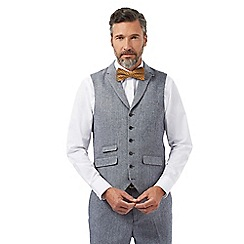 Hammond & Co. by Patrick Grant - Grey herringbone textured tailored fit waistcoat