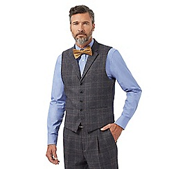 Hammond & Co. by Patrick Grant - Big and tall navy checked tailored waistcoat with wool