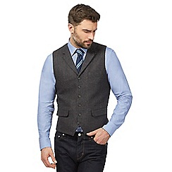 Hammond & Co. by Patrick Grant - Big and tall dark grey wool blend tailored fit waistcoat