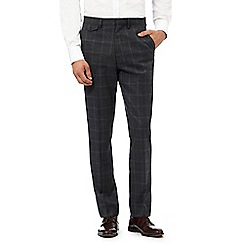 Hammond & Co. by Patrick Grant - Big and tall grey textured checked tailored trousers